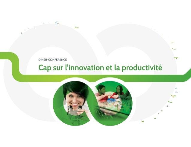 Dîner-conférence «Cap sur l'innovation et la productivité» par Sherbrooke Innopole