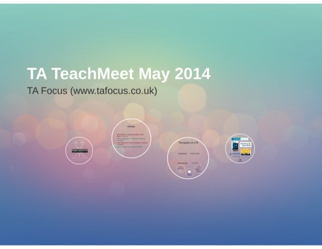 Teaching Assistant TeachMeet May 2014 - an introduction to TA Focus, an online courses, news and jobs portal for Teaching ...