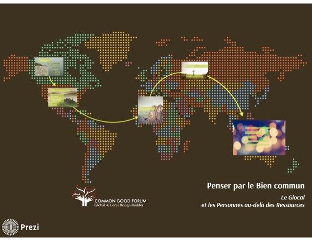 Bien commun, Global/Local : Les Personnes au-delà des Ressources