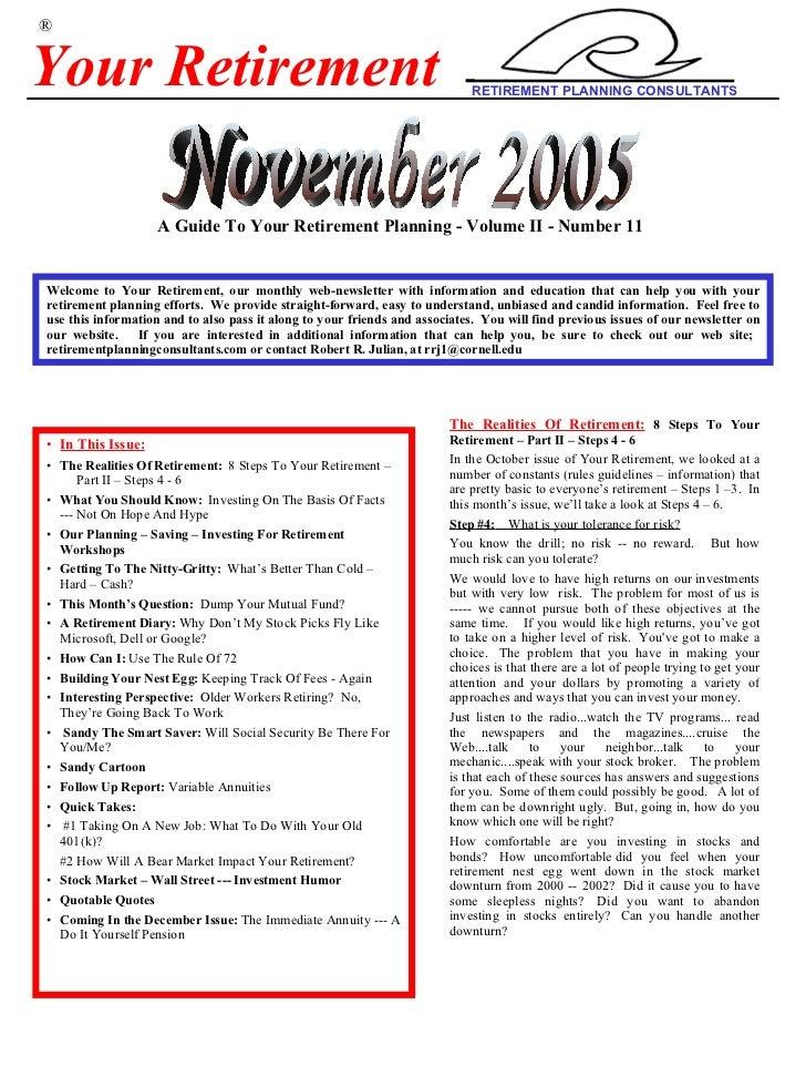 Your+Retiremen +Nov+2005+Newsletter