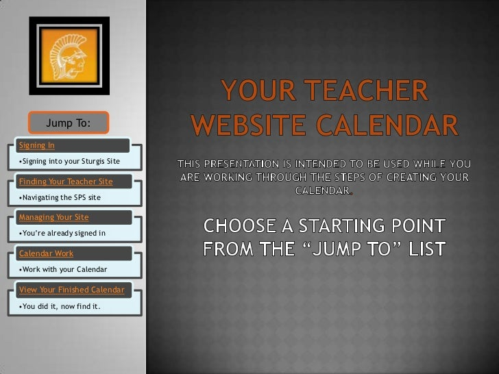 Your teacher website calendar