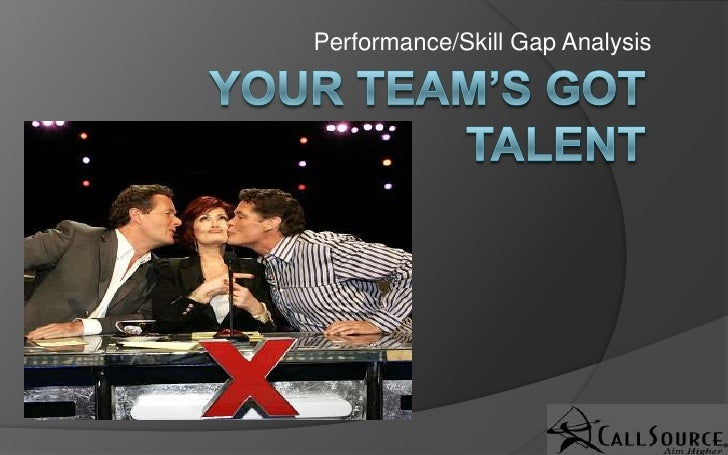 Your Team's Got Talent!  Performance Gap Analysis