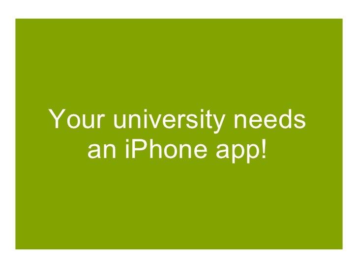 Your university needs an iPhone app!