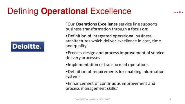 1 define operational excellence how can information
