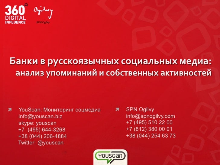 Russian and Ukrainian banks activities in social media analytic review