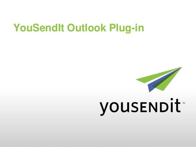 YouSendIt Outlook Plug-in
