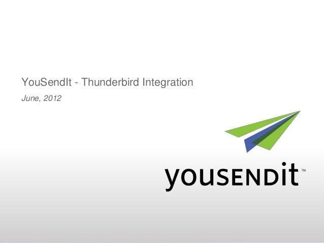 YouSendIt - Thunderbird IntegrationJune, 2012