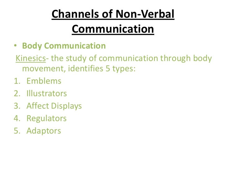 Non verbal communication assignment