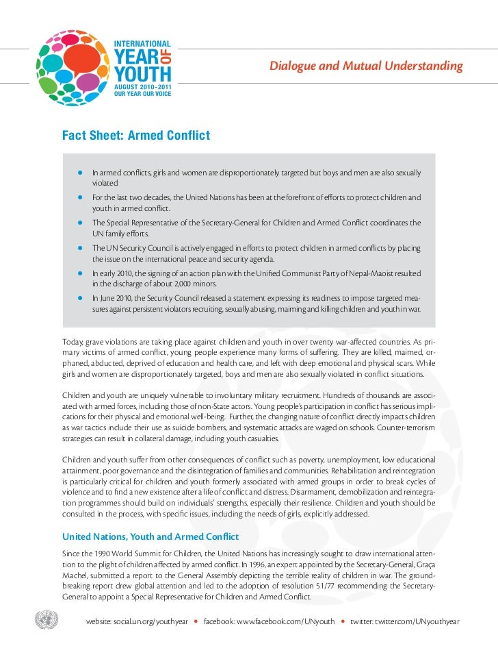 Dialogue and Mutual Understanding       Fact Sheet: Armed Conflict           zz In armed conflicts, girls and women are di...