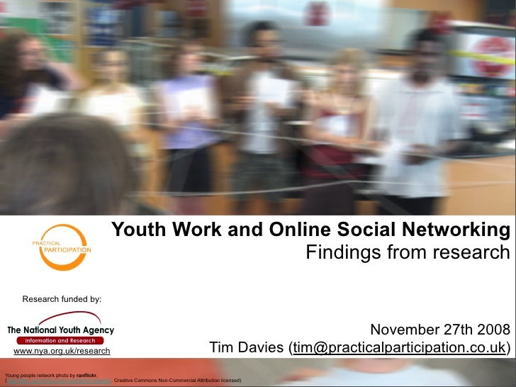 Youth Work and Online Social Networking                                                                   Findings from re...
