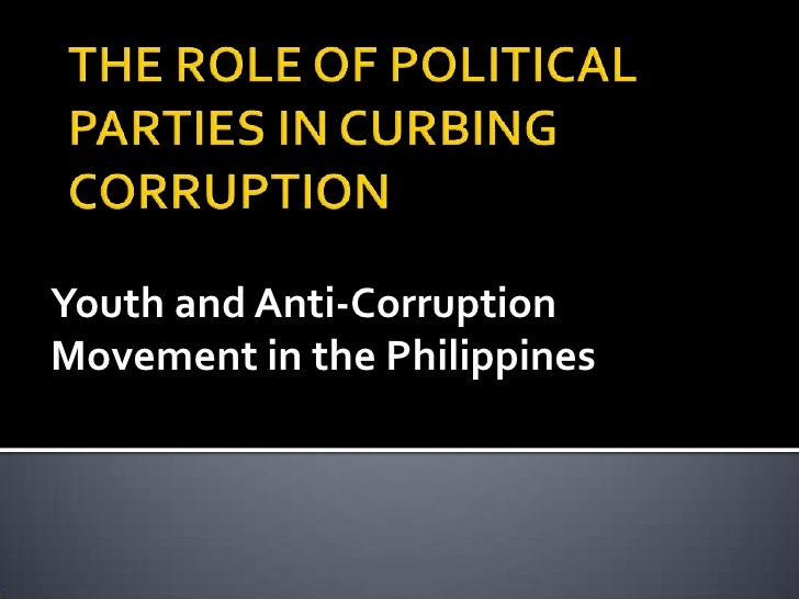 Youth and the anti corruption movement in the philippines