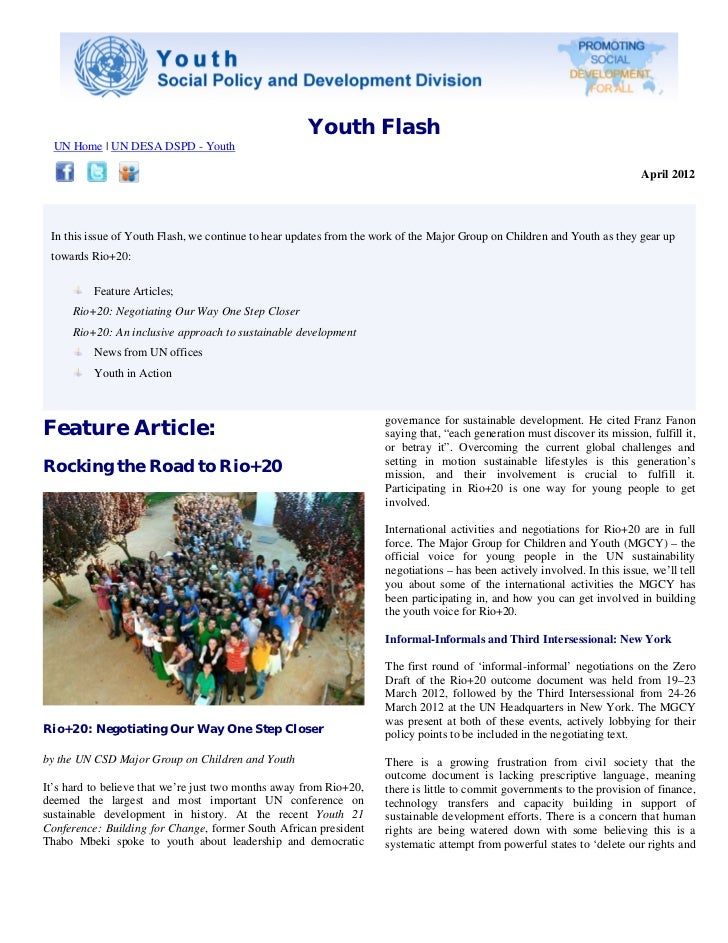 Youth Flash, April 2012