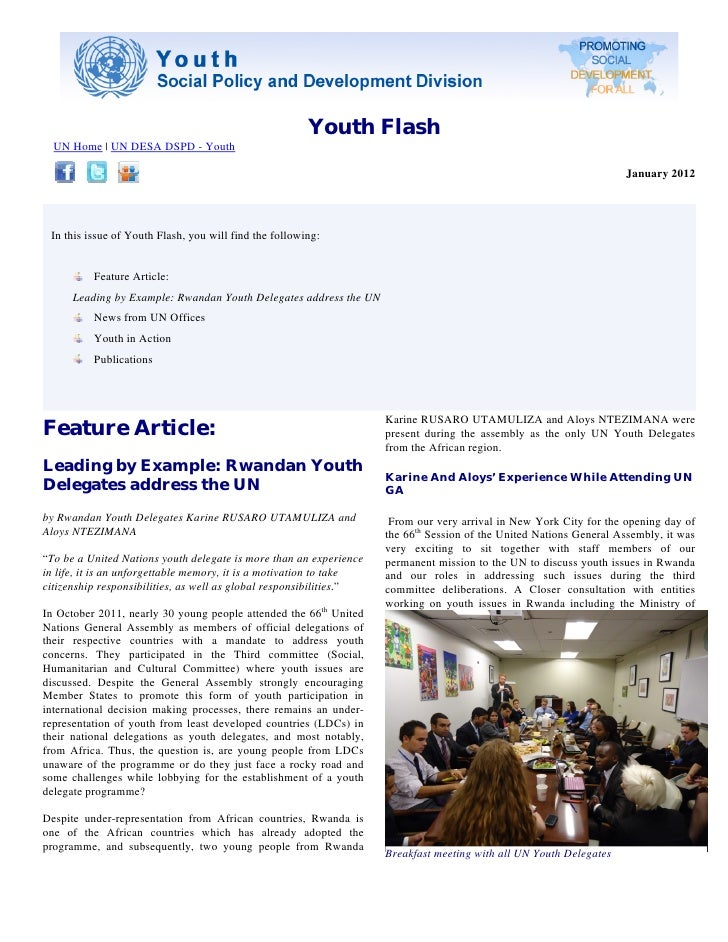 Youth Flash  UN Home | UN DESA DSPD - Youth                                                                               ...