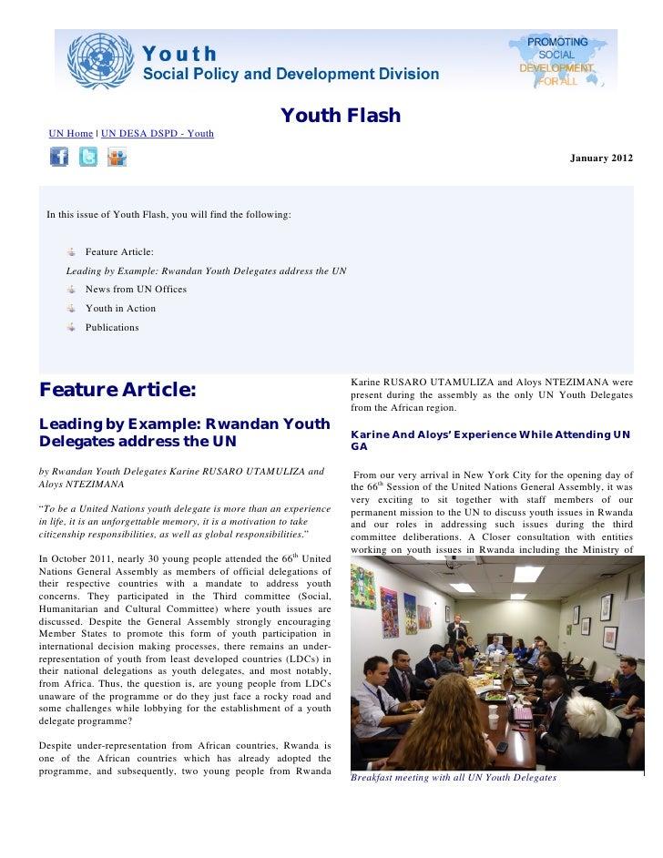Youth Flash, January 2012