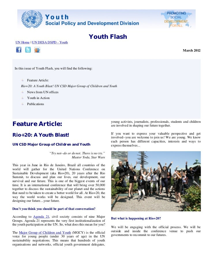 Youth Flash, March 2012