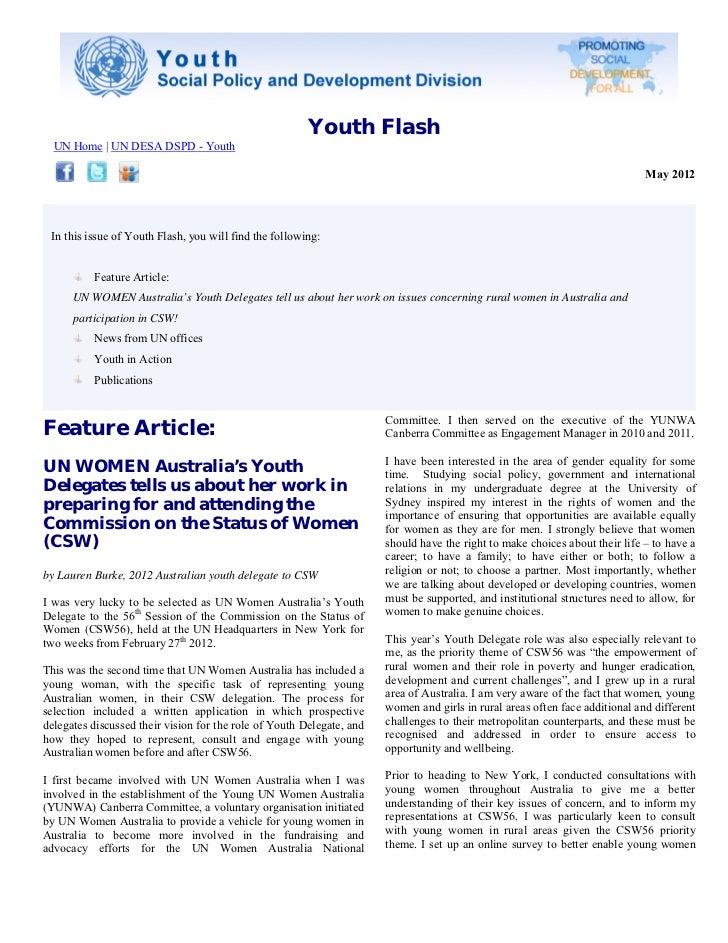 Youth Flash, May 2012