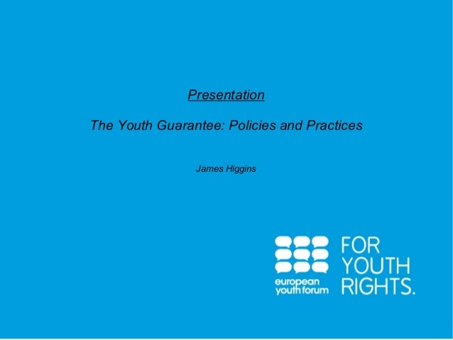 James Higgins (European Youth Forum) - Youth guarantee practices
