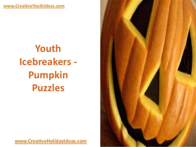 Youth Icebreakers - Pumpkin Puzzles