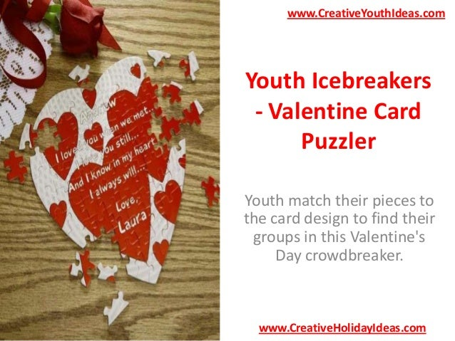 Youth Icebreakers - Valentine Card Puzzler