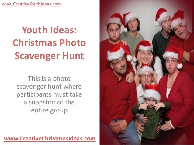 Youth Ideas: Christmas Photo Scavenger Hunt