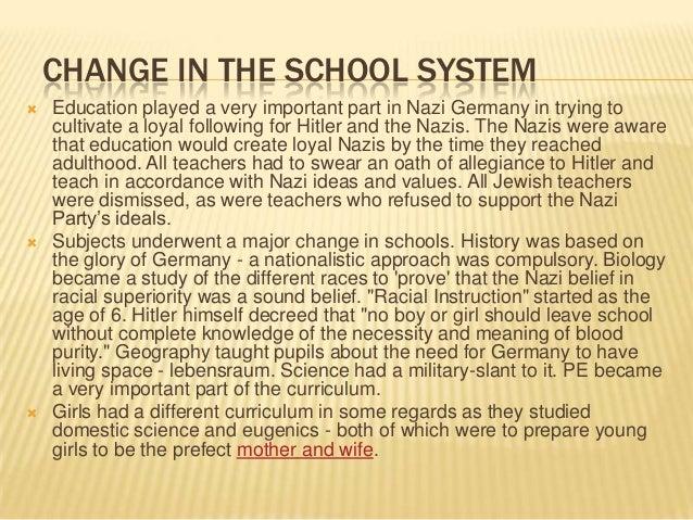 Educatoion in nazi germany help?