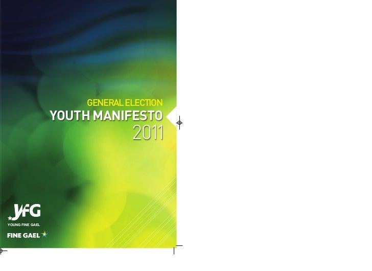 Young Fine Gael Youth manifesto