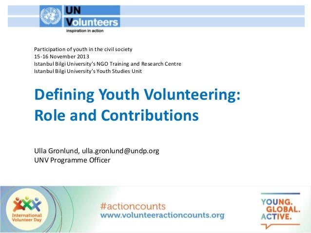 Ulla Gronlund - Defining Youth Volunteering: Role and Contributions