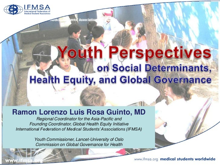 Youth Perspectives on Social Determinants, Health Equity, and Global Governance