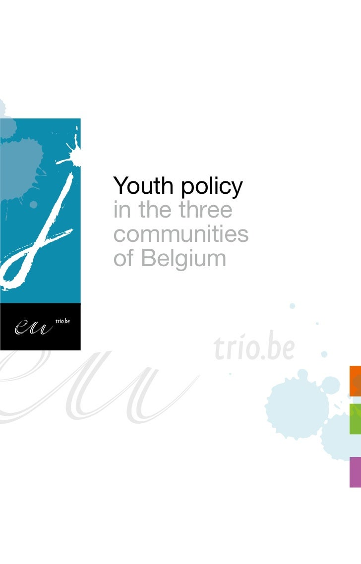 Youth policy in the 3 communities of Belgium