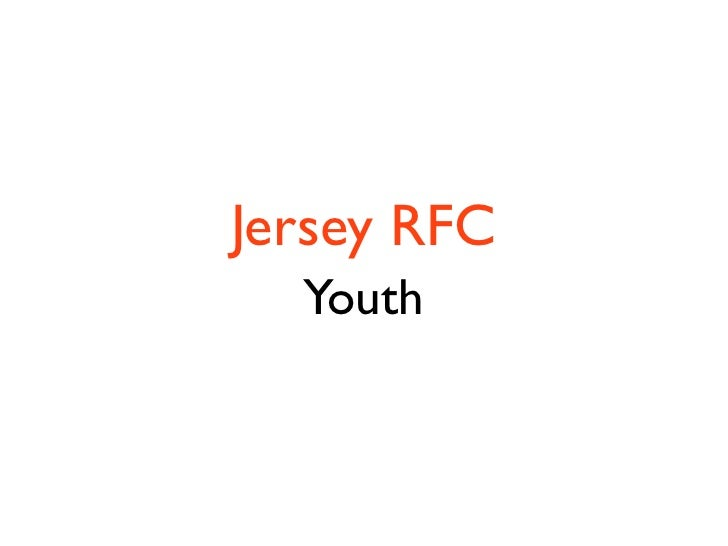 Jersey RFC   Youth