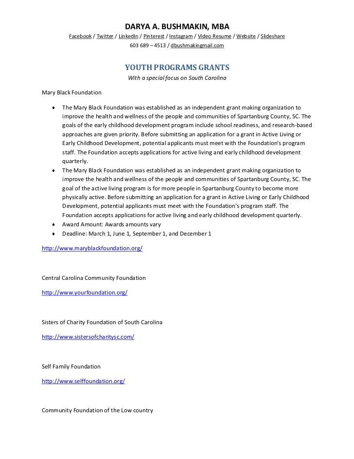 Youth programs grants