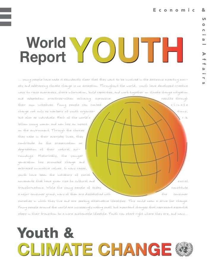 World Youth Report- Youth and Climate Change