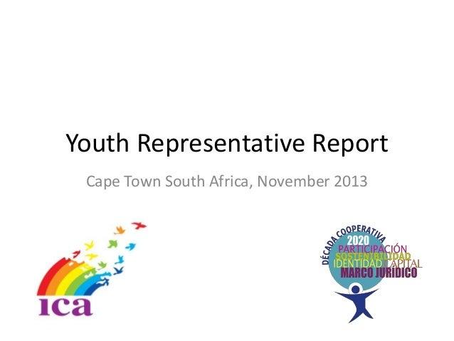 Youth representative report