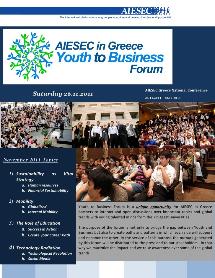AIESEC Greece Youth to Business November 2011