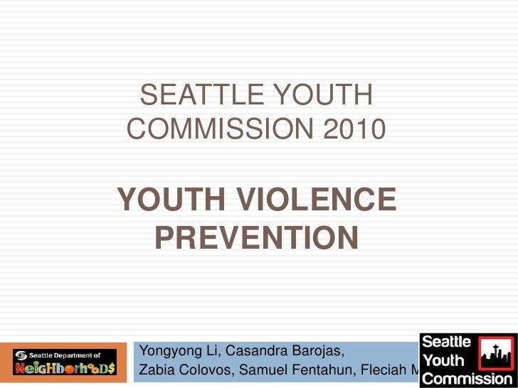 Youth Violence Prevention presentation