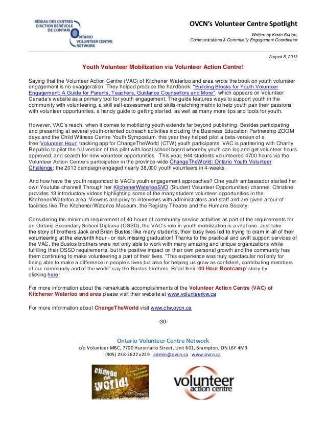 OVCN's Volunteer Centre Spotlight Written by Kevin Sutton, Communications & Community Engagement Coordinator August 8, 201...