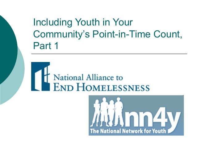 Counting Homeless Youth