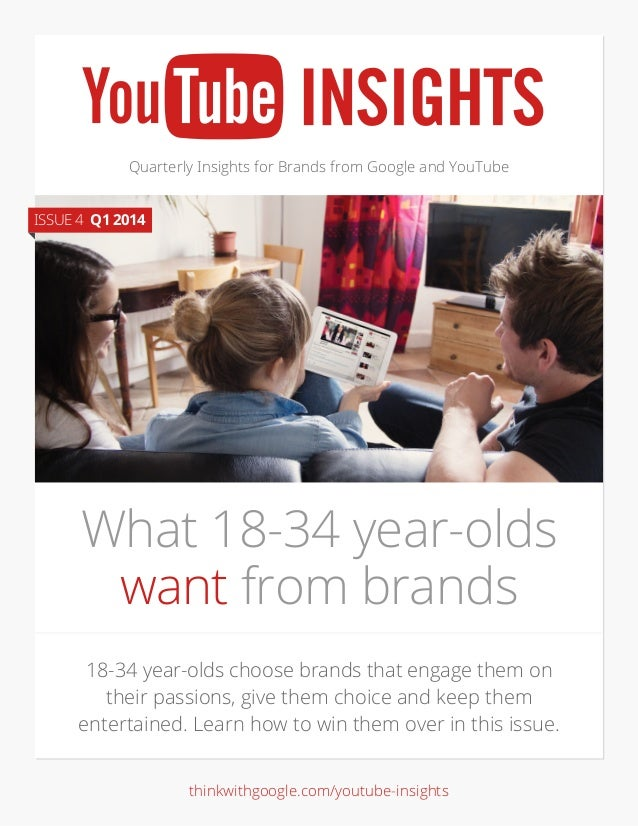 Quarterly Insights for Brands from Google and YouTube 18-34 year-olds choose brands that engage them on their passions, gi...