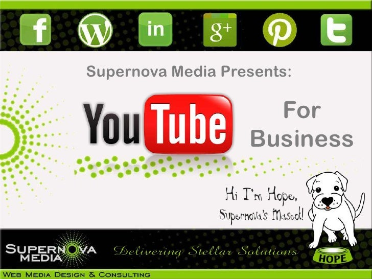 Supernova Media Presents:                     For                   Business