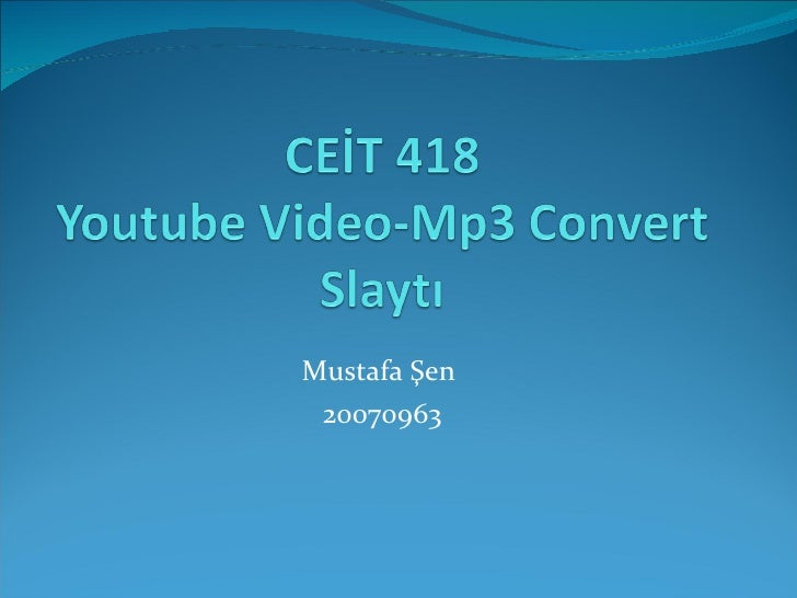 Youtube convert