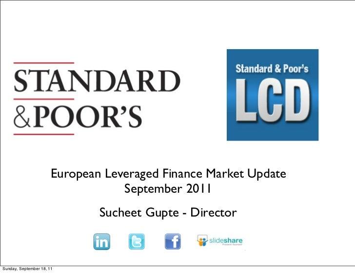 Text                       European Leveraged Finance Market Update                                   September 2011      ...