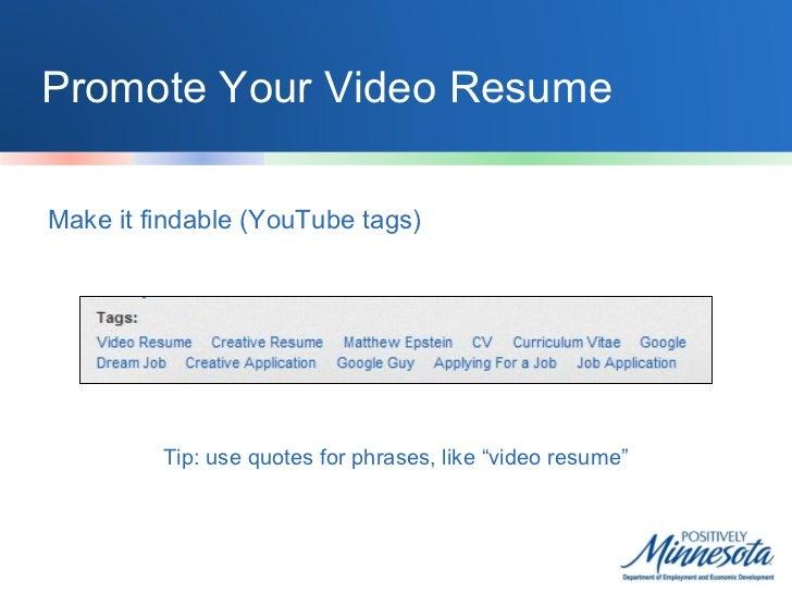Youtube job search
