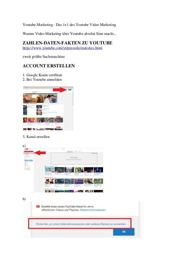 Youtube Marketing - Das 1x1 des Youtube Video Marketing Warum Video Marketing über Youtube absolut Sinn macht... ZAHLEN-DA...