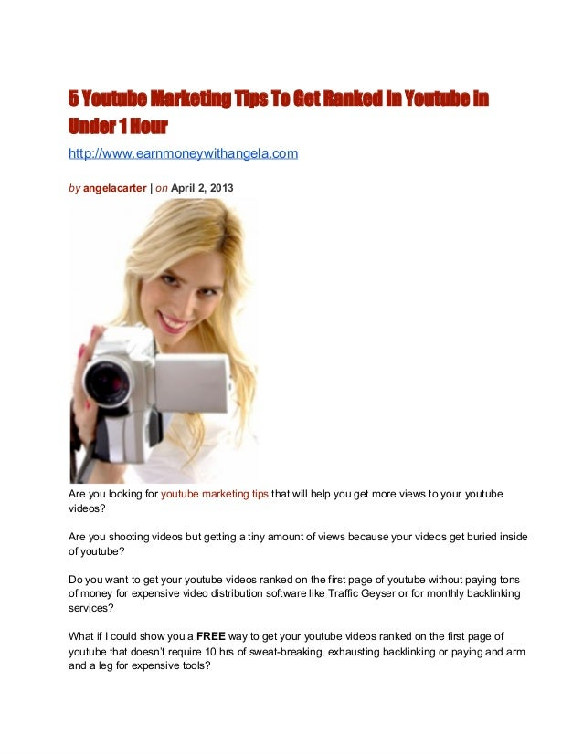 5 Ninja Youtube Marketing Tips to Get Ranked in Under 1 Hour