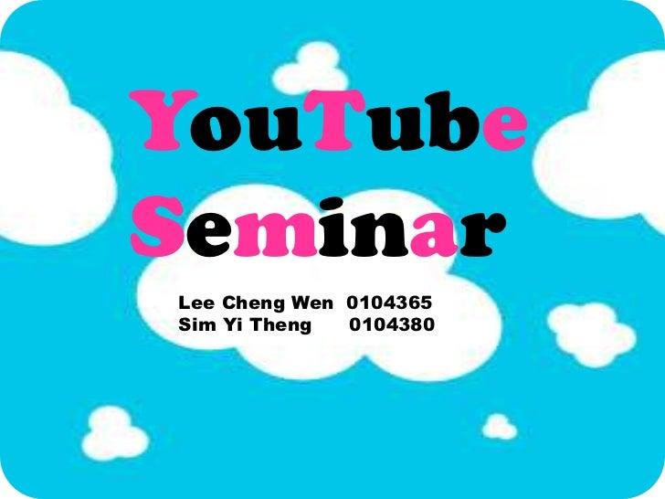 Youtube seminar