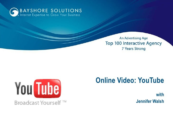 Online Video: YouTube with Jennifer Walsh