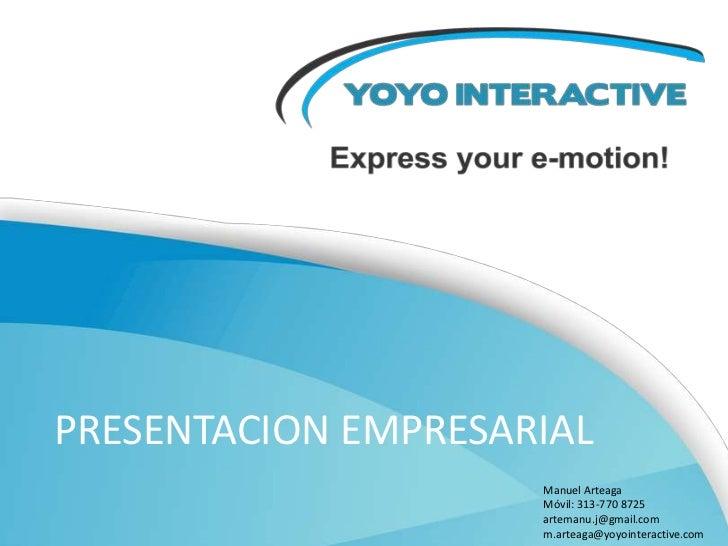 YOYO INTERACTIVE PRESENTACION DIGITAL