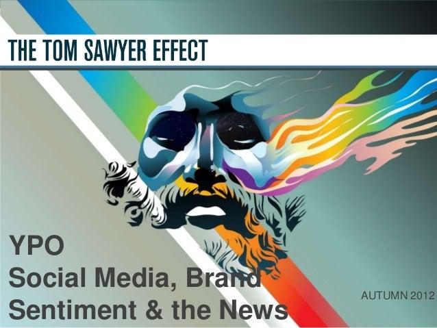 Social media, news & brand sentiment November 2012