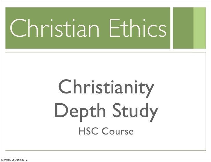 Yr 12 christian intro ethics