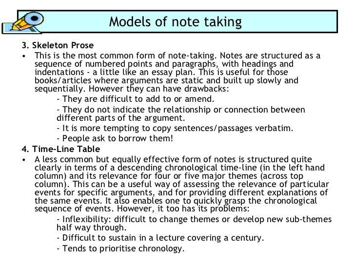 formal essay notes